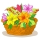 Basket with Flowers Lily - GraphicRiver Item for Sale
