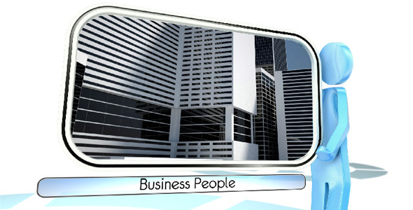 Business People VideoHive -   Video Displays  3D Object 397222