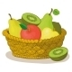 Basket with Fruits - GraphicRiver Item for Sale