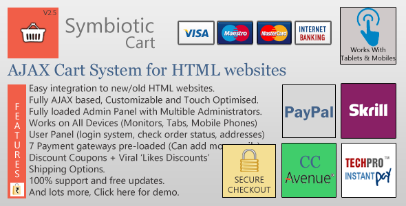 CodeCanyon AJAX Cart for HTML websites with Orders & Invoices 2503117