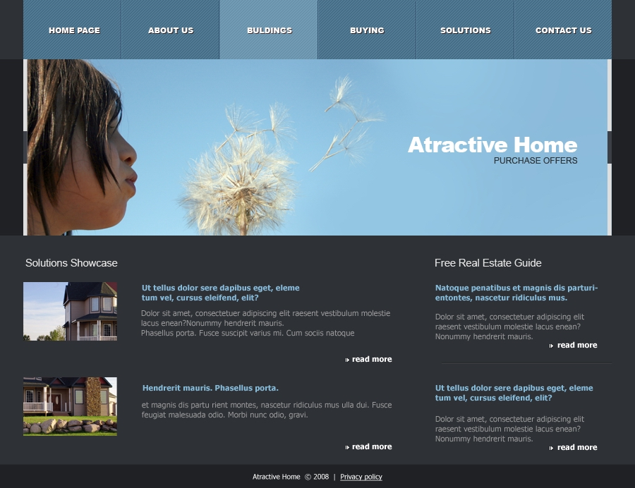 Attractive Home - bulding page
