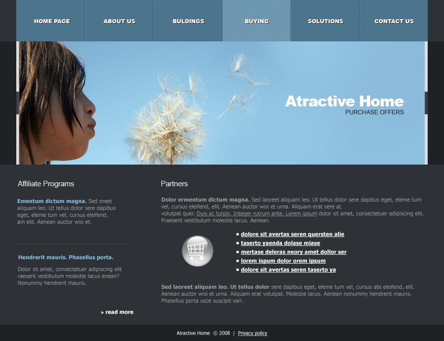 Attractive Home - buying page