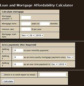 Mortgage and Loan Calculator - WorldWideScripts.net Item for Sale