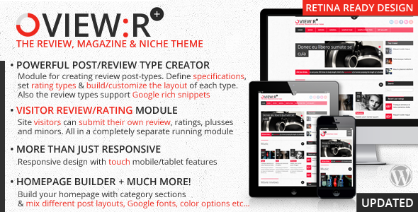 ThemeForest View r visitor author review magazine niche theme 3375669