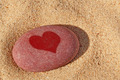 Heart pebble on the beach. - PhotoDune Item for Sale