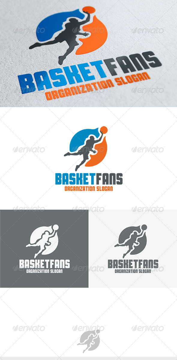 Basket Fans Logo - Humans Logo Templates
