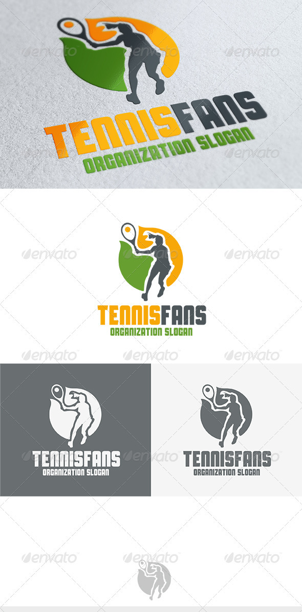 Tennis Fans Logo - Humans Logo Templates