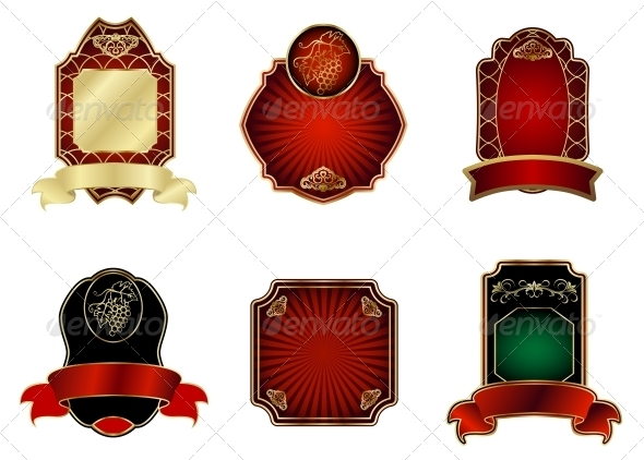 GraphicRiver Set of Vintage Labels 3697176