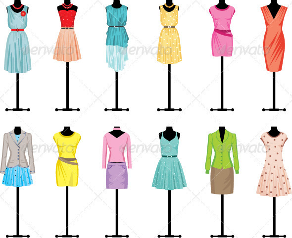 GraphicRiver Mannequins with Womens Clothing 3697187