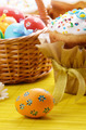 Easter eggs, cake, basket - PhotoDune Item for Sale