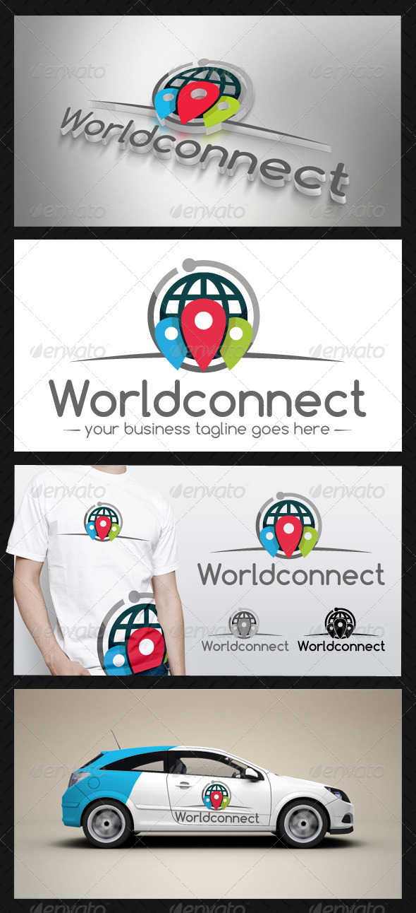 GraphicRiver World Connect Logo Template 3663487