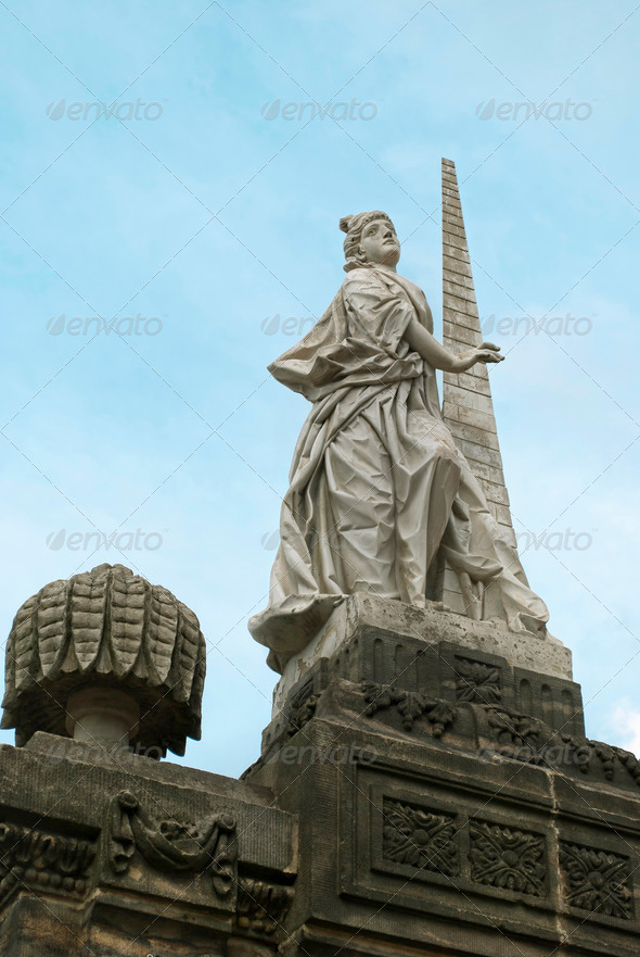 Statute of Fortidude in Bamberg - Stock Photo - Images