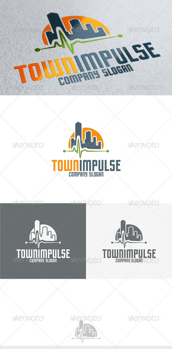 Town Impulse Logo - Buildings Logo Templates