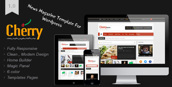 ThemeForest Cherry Responsive News and Magazine Theme 3671130