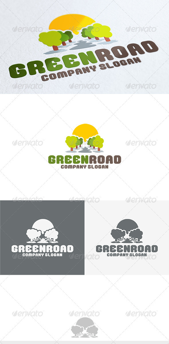 Green Road Logo - Nature Logo Templates