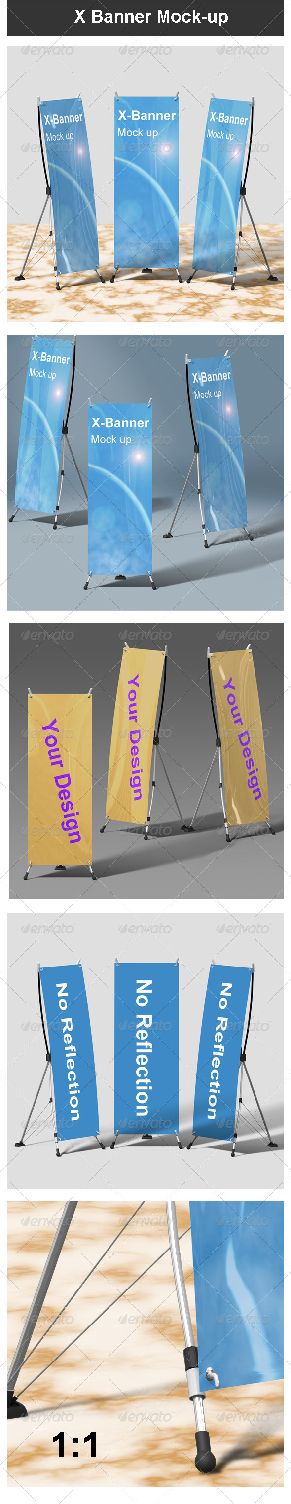 GraphicRiver X Banner Mock-up 3702511