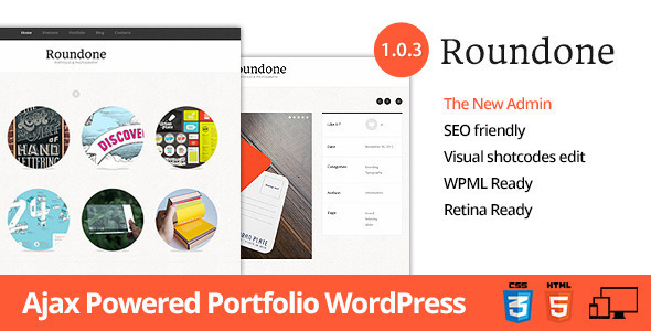 ThemeForest Roundone Ultimate Portfolio WP Theme 3581584
