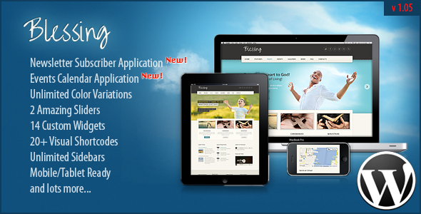 ThemeForest Blessing Premium Responsive WordPress Theme 3582013