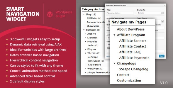 CodeCanyon Smart Navigation Widgets 3702563