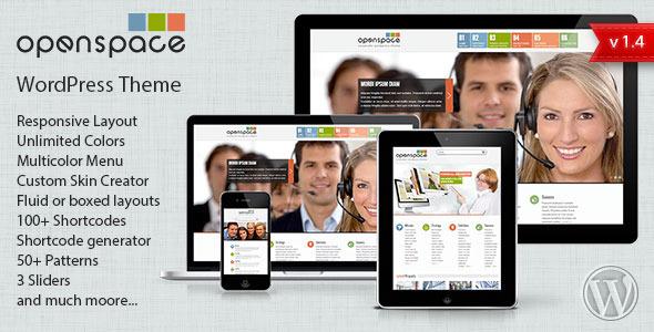 ThemeForest OpenSpace Responsive Mulipurpose Wordpress Theme 3262399