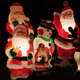 Santa And Snowman Decorations On Lawn - VideoHive Item for Sale