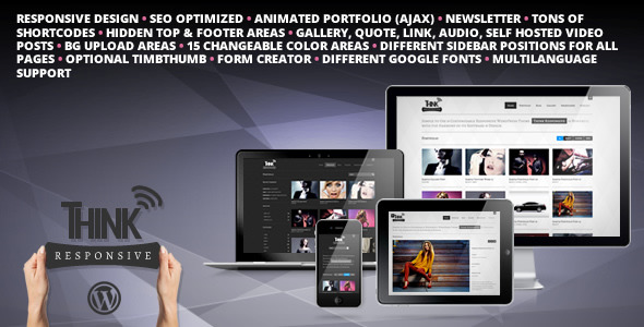 Think Responsive Portfolio and Blog