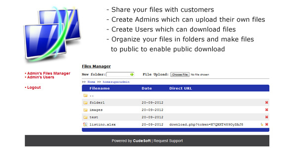 File Share Manager - CodeCanyon Item for Sale