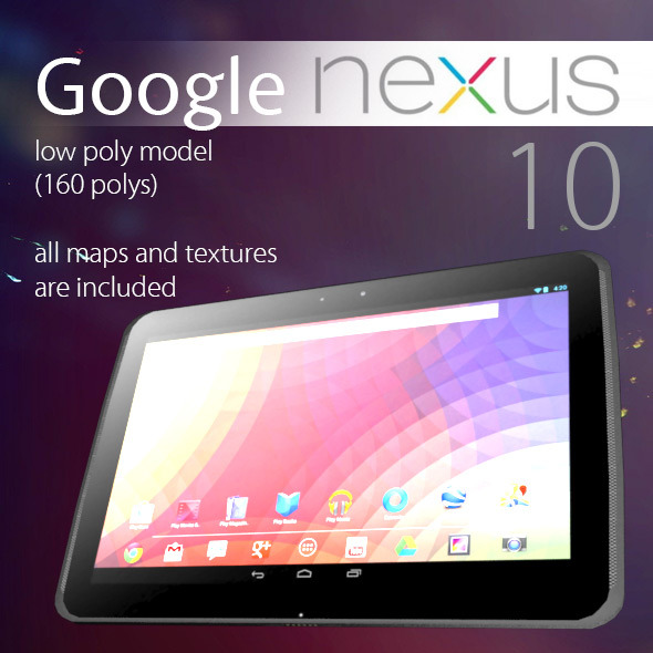 3DOcean Google Nexus 10 Low Poly 3705975