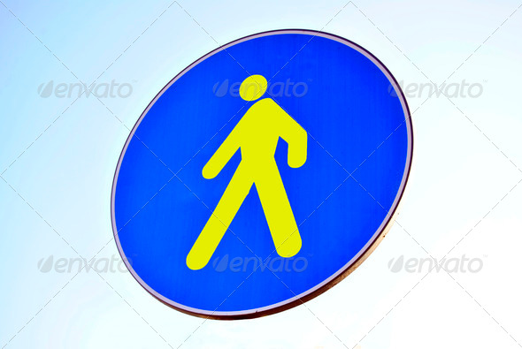 Pedestrian walking - Stock Photo - Images