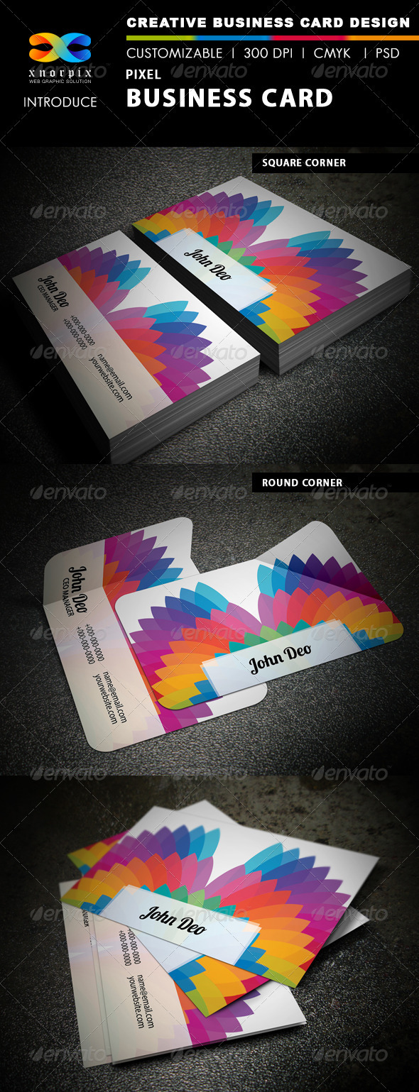 GraphicRiver Pixel Business Card 3706615