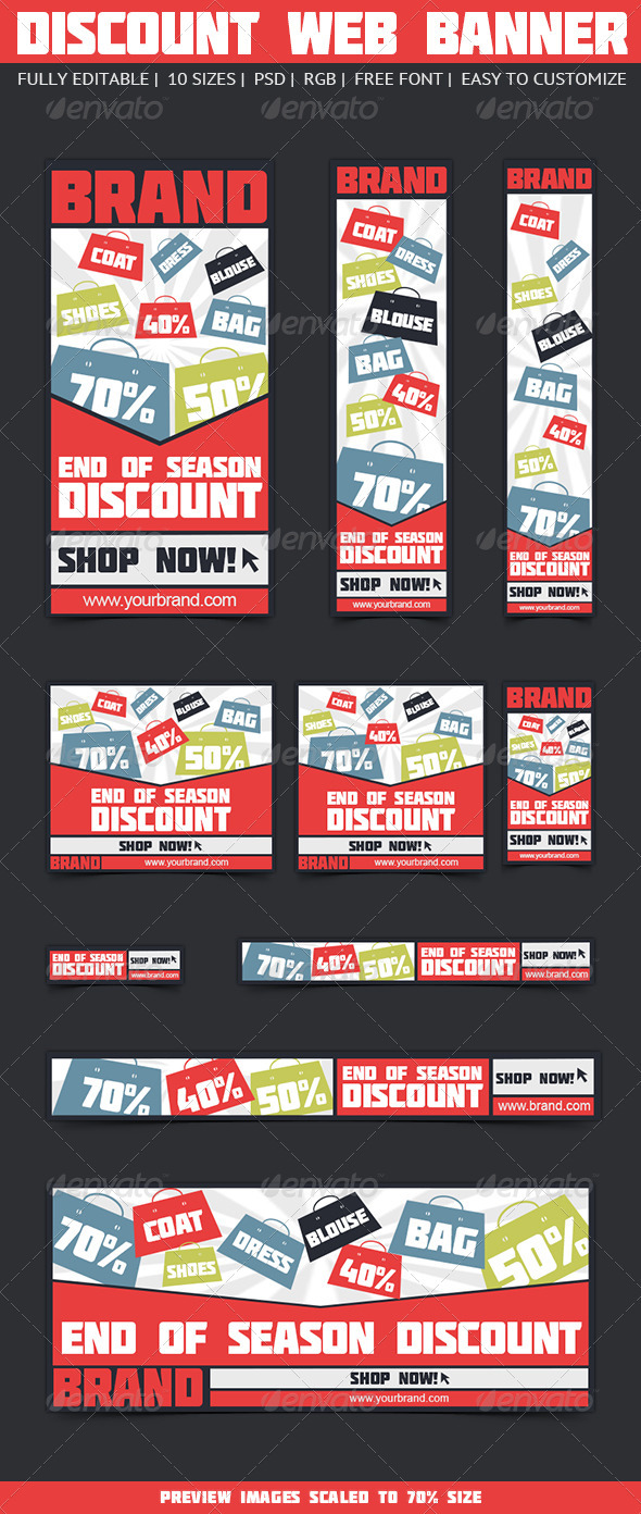 Discount Web Banners - Banners & Ads Web Elements