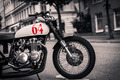 Motorcycle parked on the street of Stockholm - PhotoDune Item for Sale