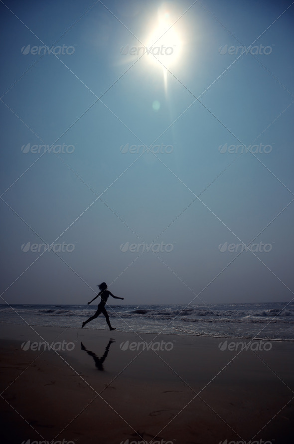 Dance in blue night - Stock Photo - Images