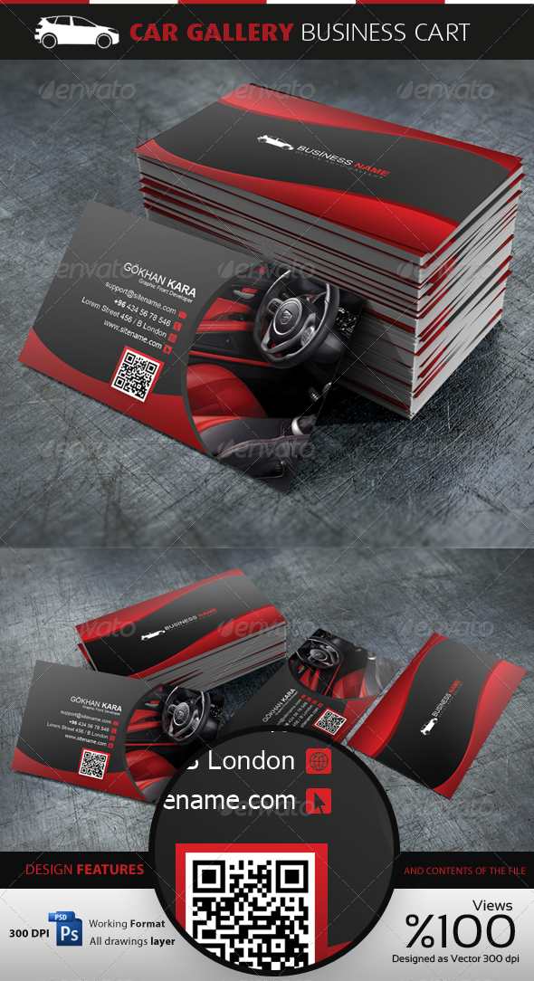 GraphicRiver Car Gallery Business Cardvisid 3708814