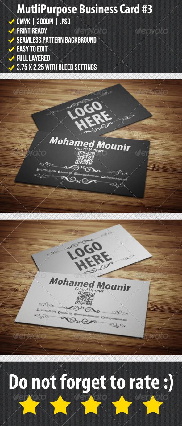 GraphicRiver Multipurpose Business Card 3 3709793