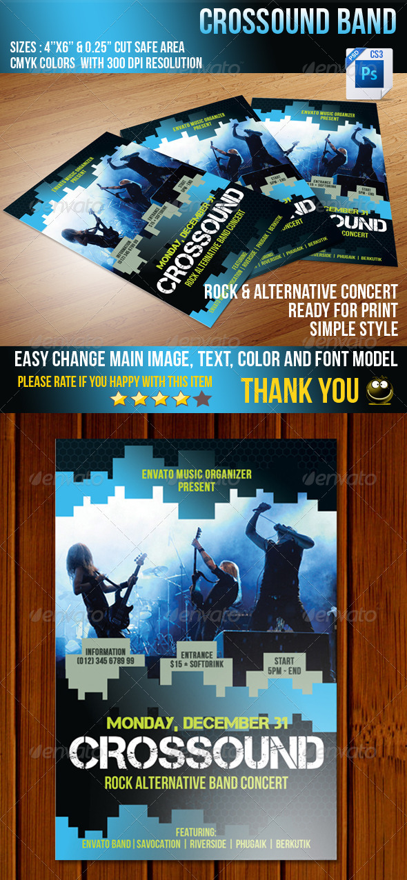 GraphicRiver Crossound Flyer 3710455