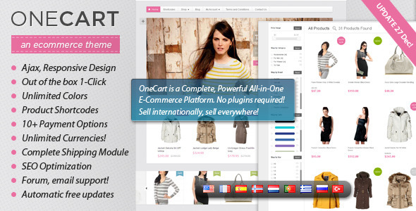 ThemeForest OneCart Ajax Responsive E-Commerce WordPress Theme 3167538