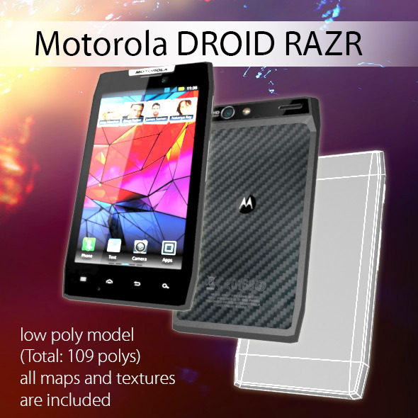 Motorola DROID RAZR Low Poly  - 3DOcean Item for Sale
