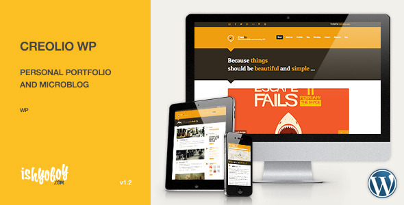 ThemeForest Creolio WP Personal portfolio and microblog 3644512