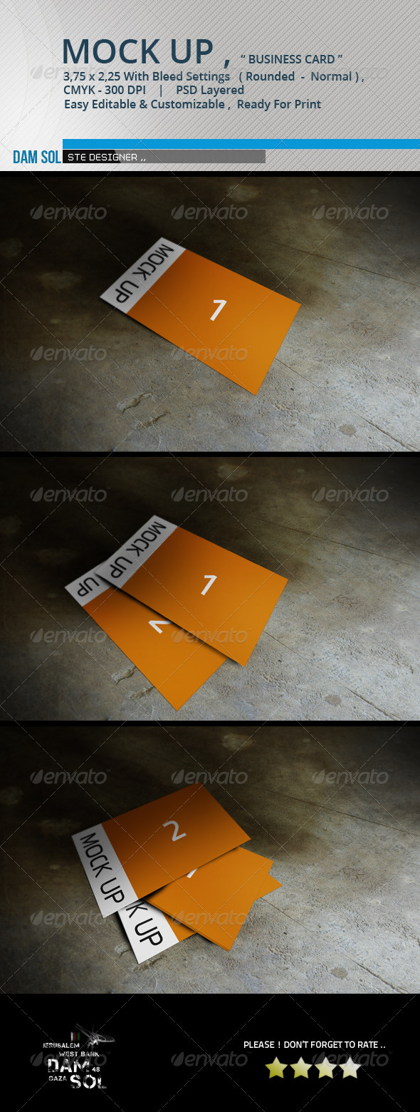 GraphicRiver 3 MockUp Business Card 3700470
