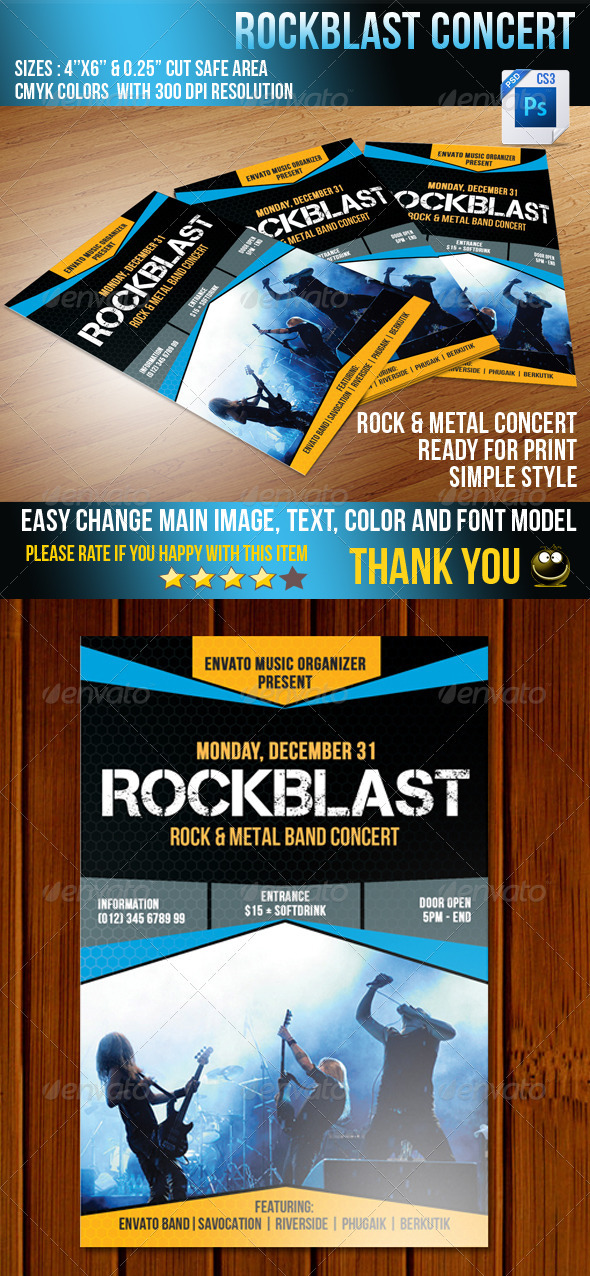 Rockblast Flyer - Concerts Events