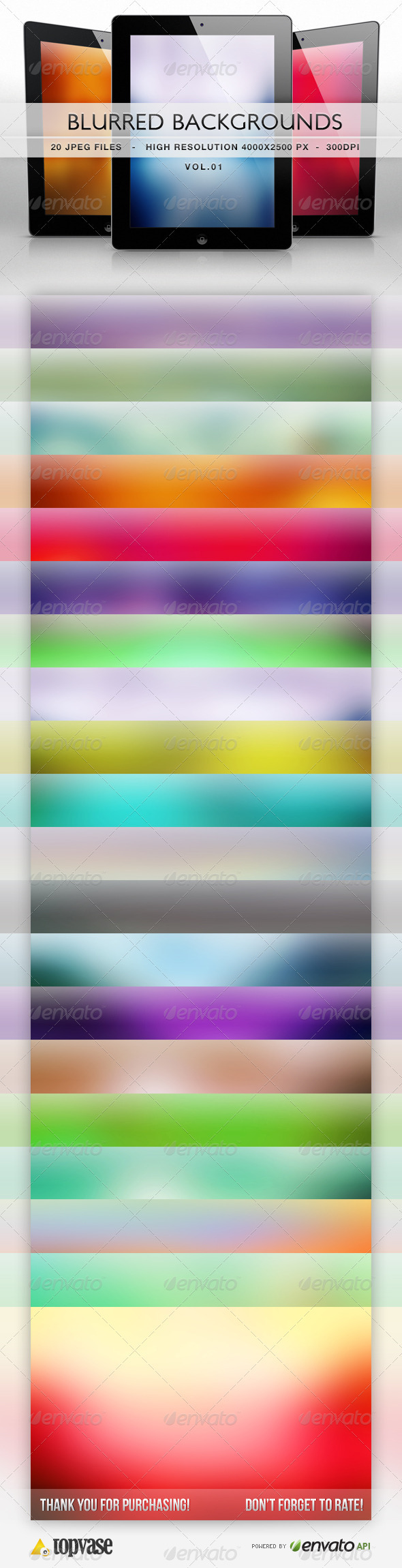 GraphicRiver Blurred HD Backgrounds 3714998