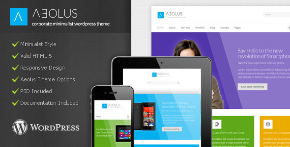 ThemeForest Aeolus Corporate Minimalist Wordpress Theme 3706622