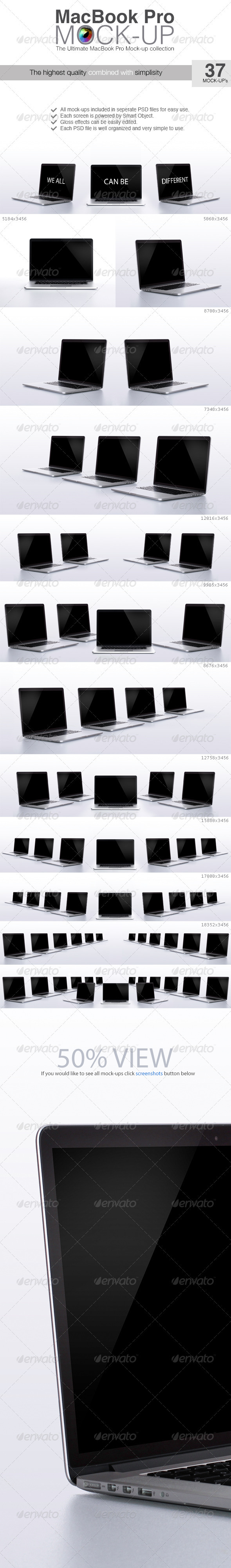 Macbook Pro Mock-up - Laptop Displays