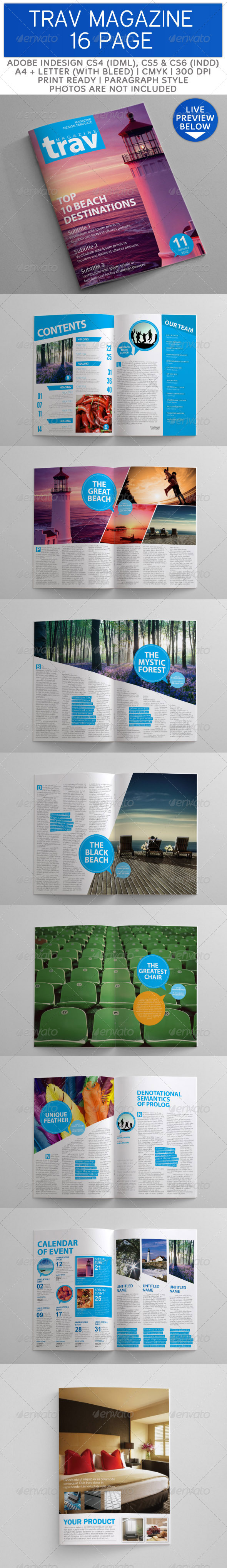 GraphicRiver 16 Pages Clean and Simple Magazine Templates 3359660