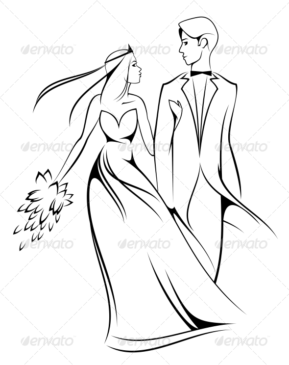 GraphicRiver Bride and Groom 3715229