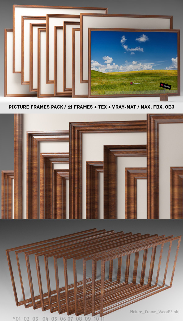 3DOcean Picture Frames Pack 3715320
