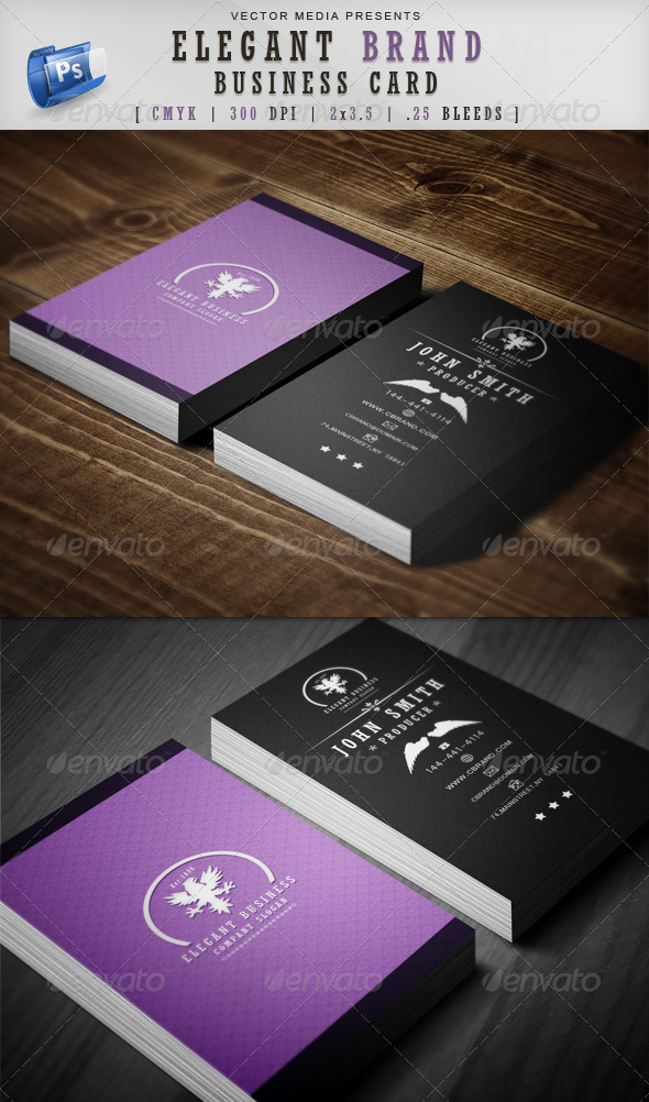 Elegant Brand - Business Card - Creative Business Cards