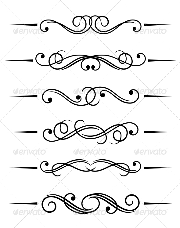 GraphicRiver Swirl Elements 3715816