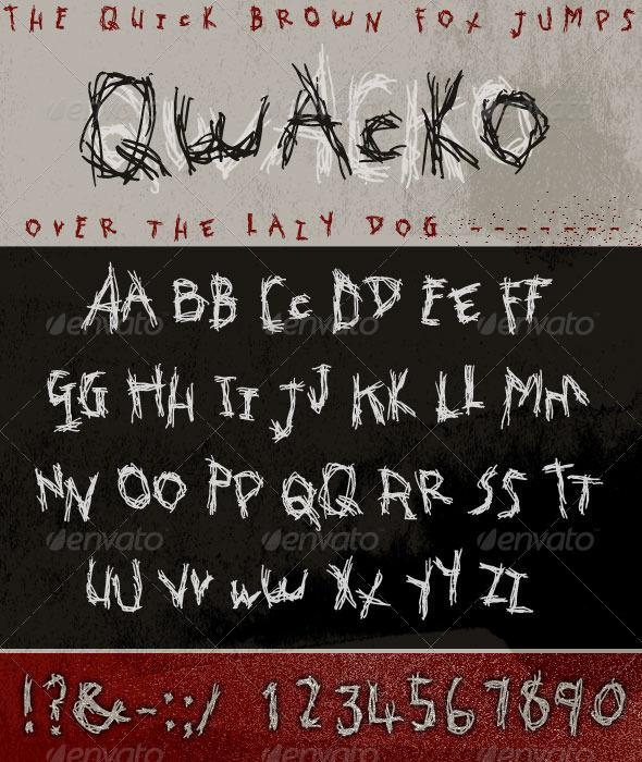 Qwacko font hand drawn graffiti type script fonts